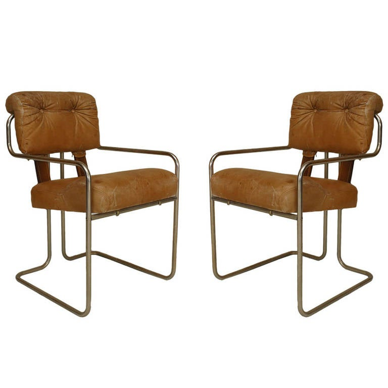 Pair of 1930's German Art Deco Armchairs by Walter Knoll