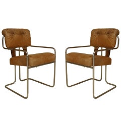 Pair of Four 1930's German Art Deco Armchairs by Walter Knoll