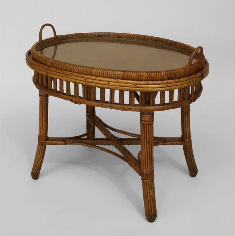 american art deco natural wicker tray top table c 1920 at 1stdibs. Black Bedroom Furniture Sets. Home Design Ideas