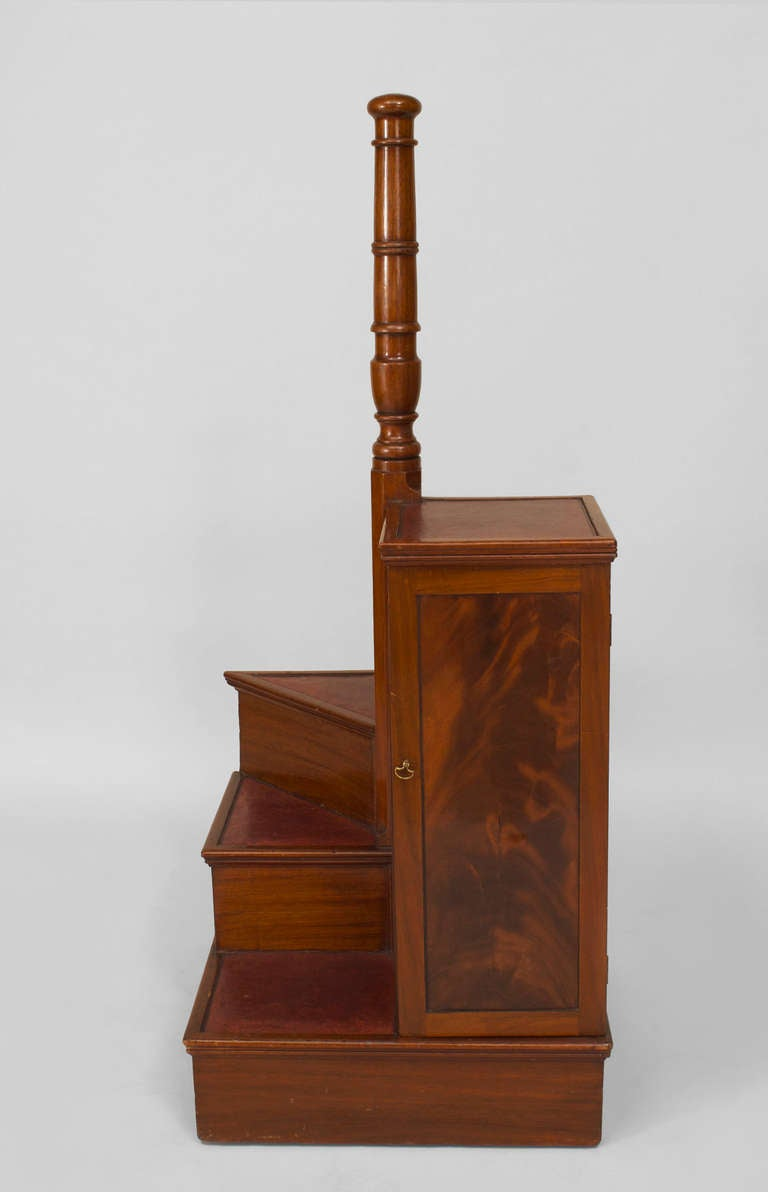 english regency spiral library ladder and cabinet for sale at 1stdibs. Black Bedroom Furniture Sets. Home Design Ideas