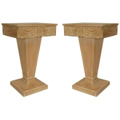 Pair of Art Moderne End Tables by Grosfeld House