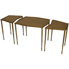 21st Century American Sectional Bronze Coffee Table by Carole Gratale