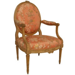 Large Turn of the Century French Louis XVI Style Armchair