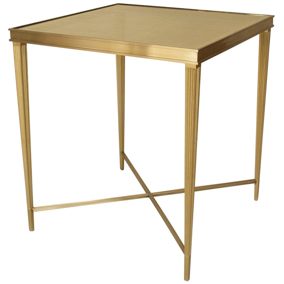 Contemporary American Gilt Eglomise End Table by Carole Gratale