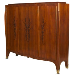 French Art Deco Inlaid Rosewood Cabinet by Leleu, c. 1930