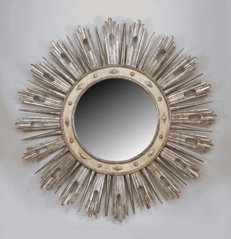 Monumental 19th c. Italian Neoclassic Sunburst Mirror 2