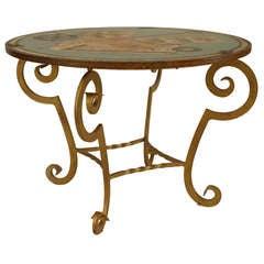French Art Deco Trompe L'Oeil End Table