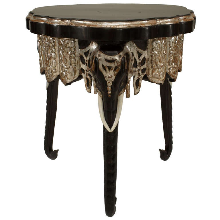 Mid-19th c. English Regency Anglo-Indian Side Table