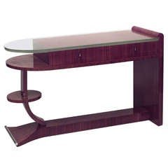 1940s French Palisander Desk, Attrib. to Maison Dominique