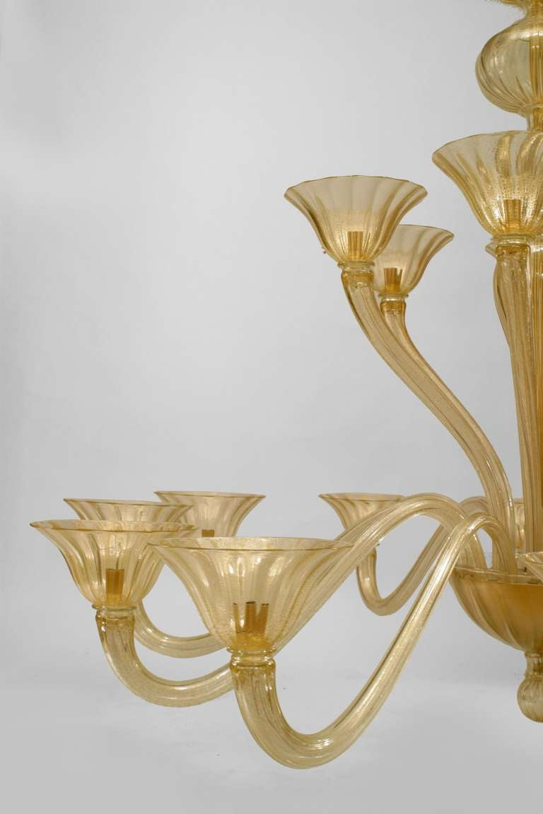 """Italian 1950's Style """"Sommerso"""" Chandelier by Seguso In Excellent Condition For Sale In New York, NY"""