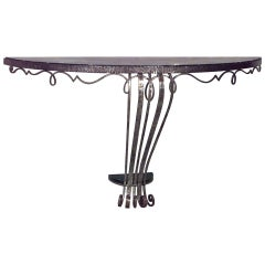 1930s French Art Deco Bracket Console, Attrib. to Raymond Subes