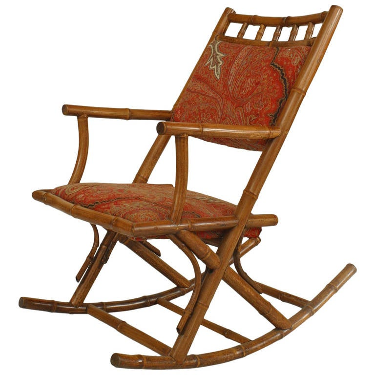 French Bamboo Rocking Chair, Circa 1880 For Sale