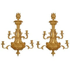 Pair of Georgian Giltwood Sconces