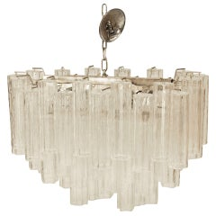 1970's Italian Glass Chandelier by Camer