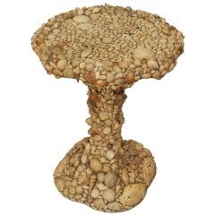 Mid-Century Italian Seashell Taboret