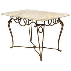 1940's French Coffee Table Attributed to Rene Prou