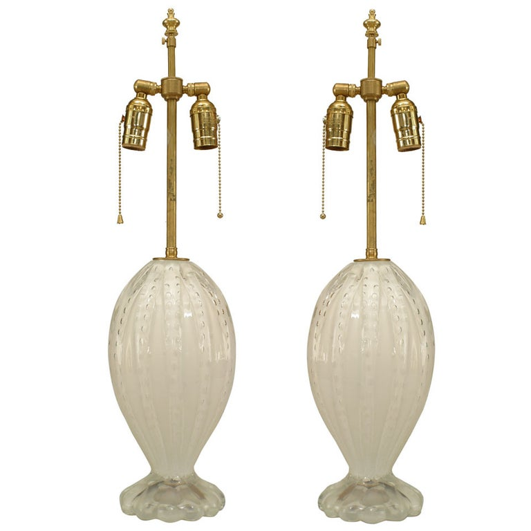 Murano Glass Table Lamps For Sale