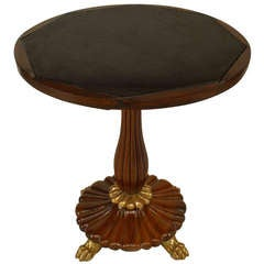 English Regency Rosewood and Marble End Table