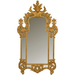 Large 20th c. French Regence Style Wall Mirror