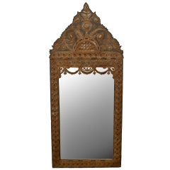 Large 1920's Mexican Carved Wall Mirror
