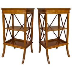Pair of 20th Century Swedish Biedermeier Style End Tables