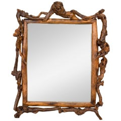 Adirondack Style Root Framed Wall Mirror