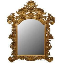 19th c. Florentine Rococo Wall Mirror