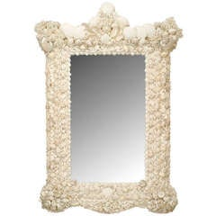 20th c. Venetian Grotto Style Seashell Mirror