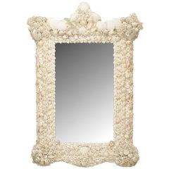 20th c. Venetian Grotto Style Seashell Mirror