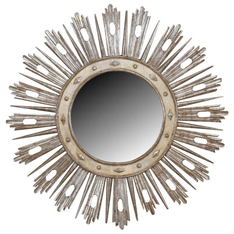 Monumental 19th c. Italian Neoclassic Sunburst Mirror 1