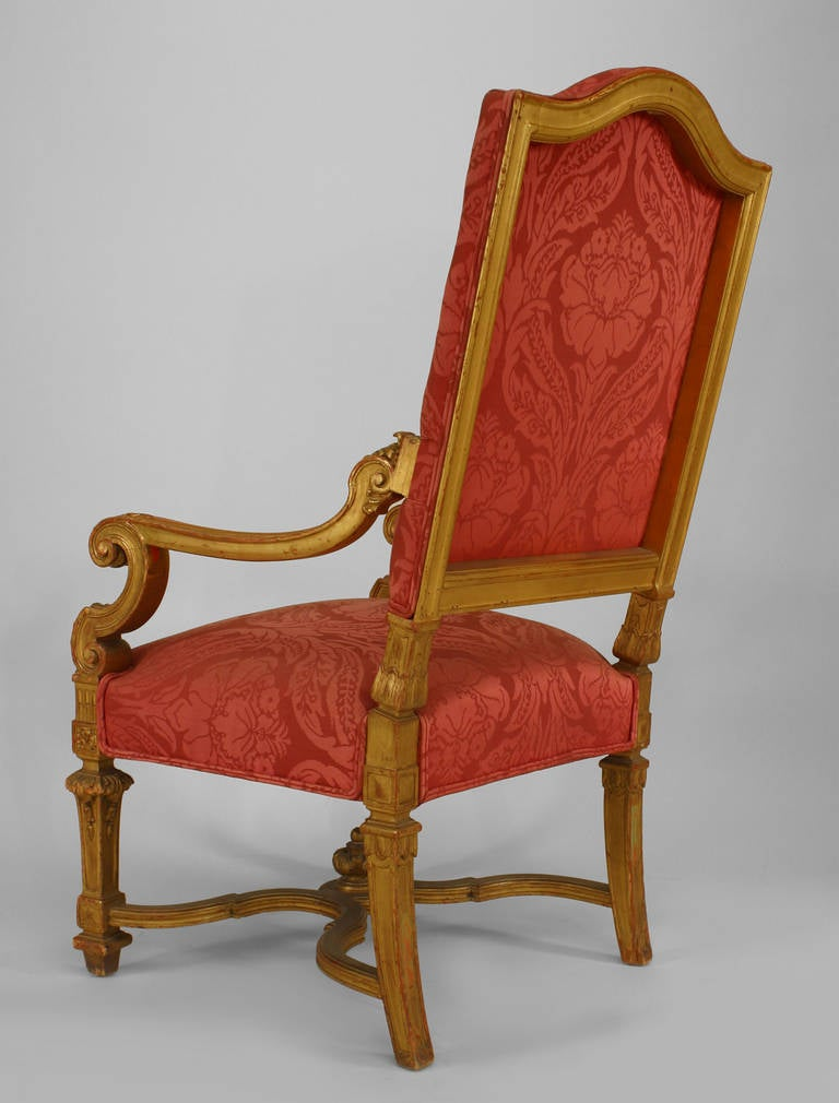Set of 9 19th c french louis xiv upholstered giltwood chairs for sale at 1stdibs - Louis th chairs ...