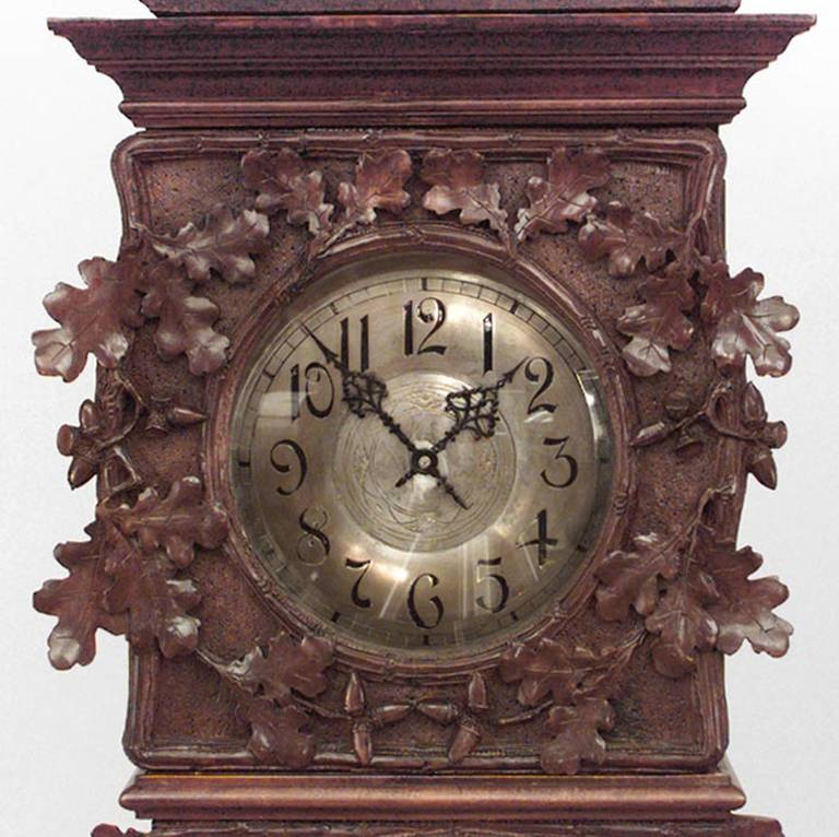 19th Century Rustic Black Forest Grandfather Clock For