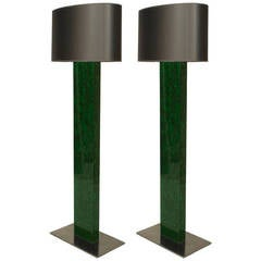 Pair of Fractal Resin Floor Lamps by Marie-Claude de Fouquieres, circa 1970