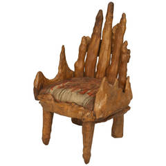 Early 20th c. American Child's Cypress Root Chair