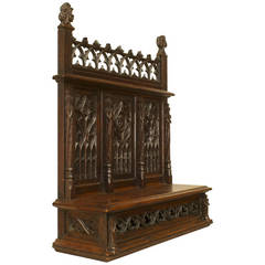 19th c. English Gothic Revival Table Top Altar