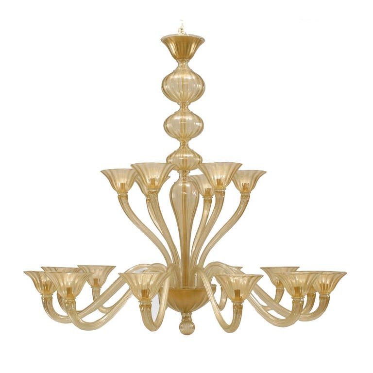 "Italian 1950's Style ""Sommerso"" Chandelier by Seguso For Sale"