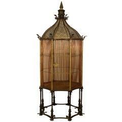 19th c. English Monumental Birdcage Patented by Henry Jones