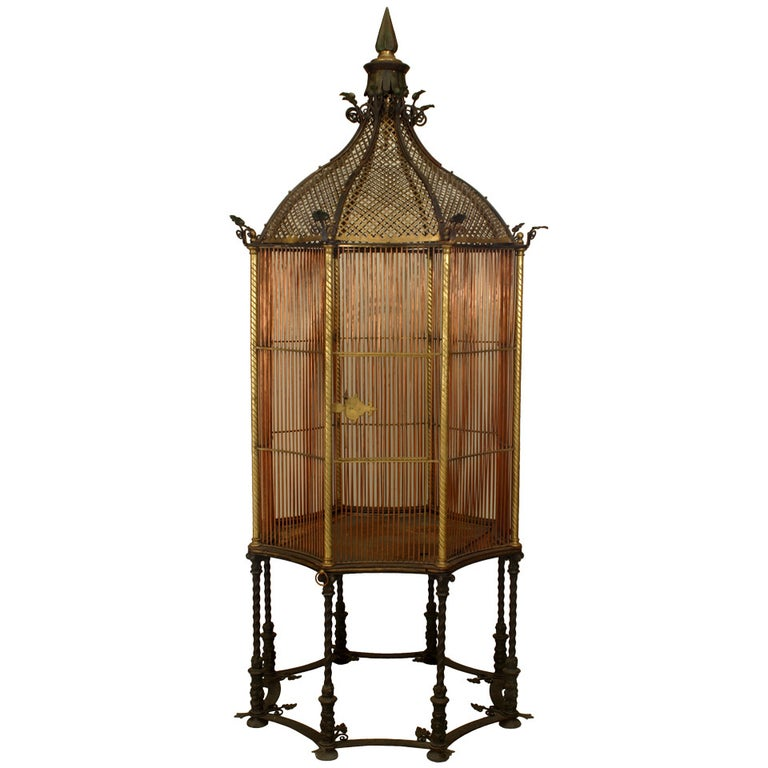 19th c. English Monumental Birdcage Patented by Henry Jones For Sale