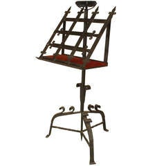 19th C. Gothic Revival Wrought Iron Lectern