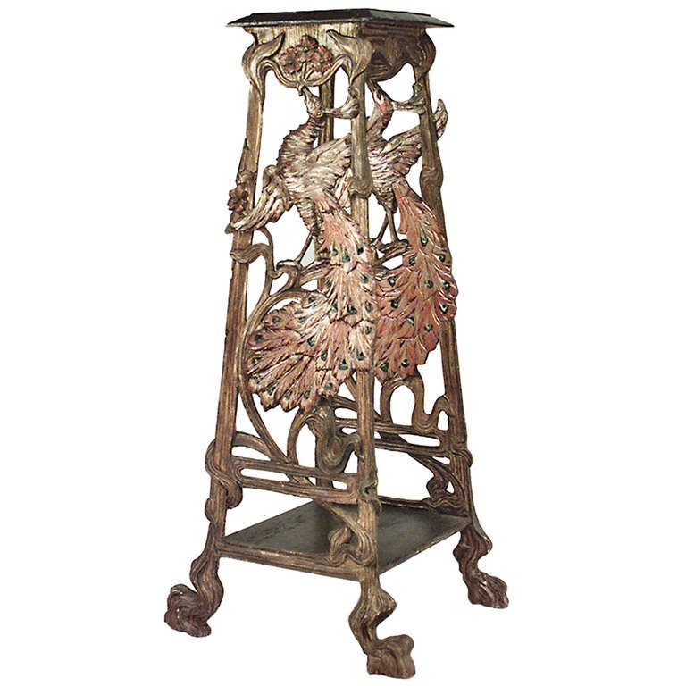 19th c. Carved Venetian Grotto Pedestal