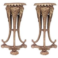 Pair of 19th c. Regency Elephant Pedestals