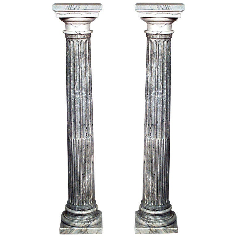 Pair of Turn of the Century French Columns For Sale