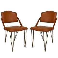 Pair of 1940s French Armchairs by Jacques Adnet