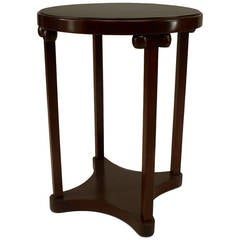 Late 19th c. Austrian Secessionist Fruitwood End Table