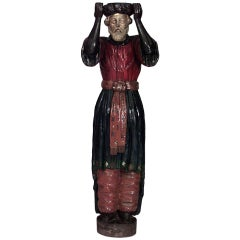 Large 19th c. Carved and Painted Carousel Style Figure