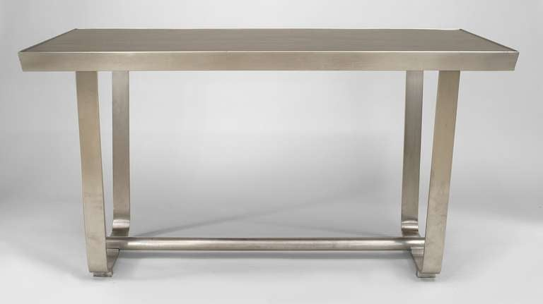 Post-Modern Mid-Century American Aluminum Center Table For Sale