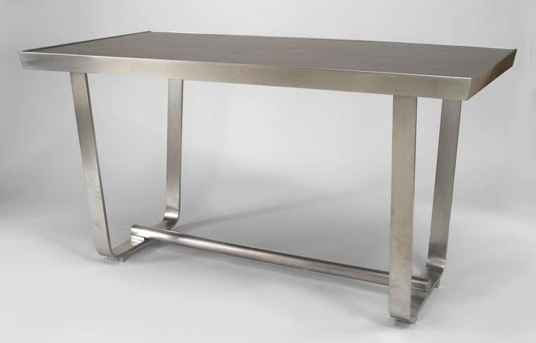 American 1940s aluminum center table with
