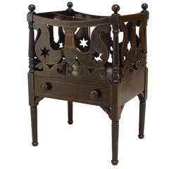 19th c. American Empire Carved Canterbury or Magazine Rack