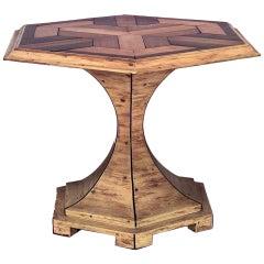 20th c. Swedish Biedermeier Style Hexagonal End Tables
