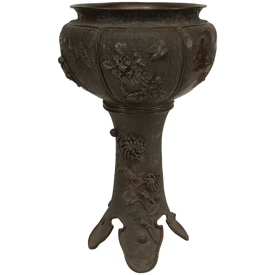 19th c. Japanese Bronze Jardiniere